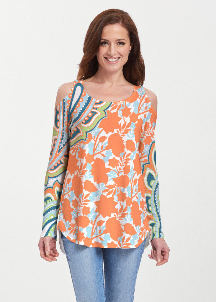 harbor-paisley-orange-cold-shoulder-tunic-f