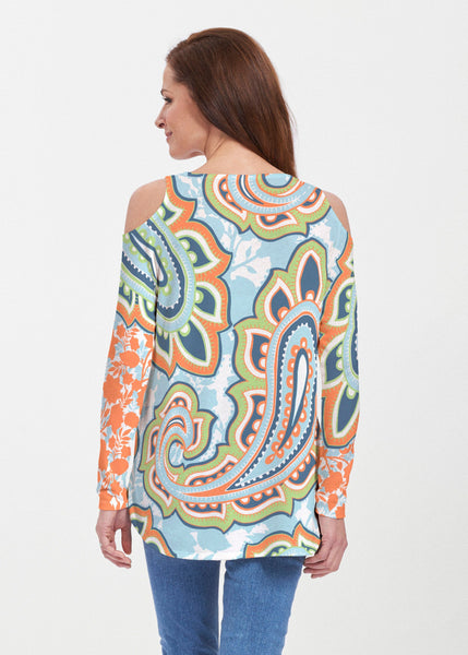harbor-paisley-orange-cold-shoulder-tunic-b