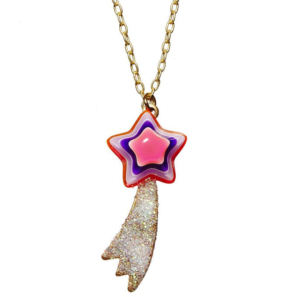 Neon Comet necklace