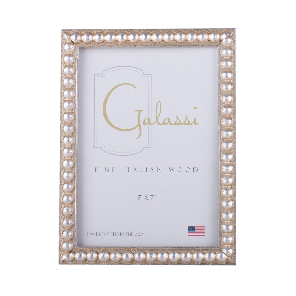 Gold and Silver Bead Picture Frame