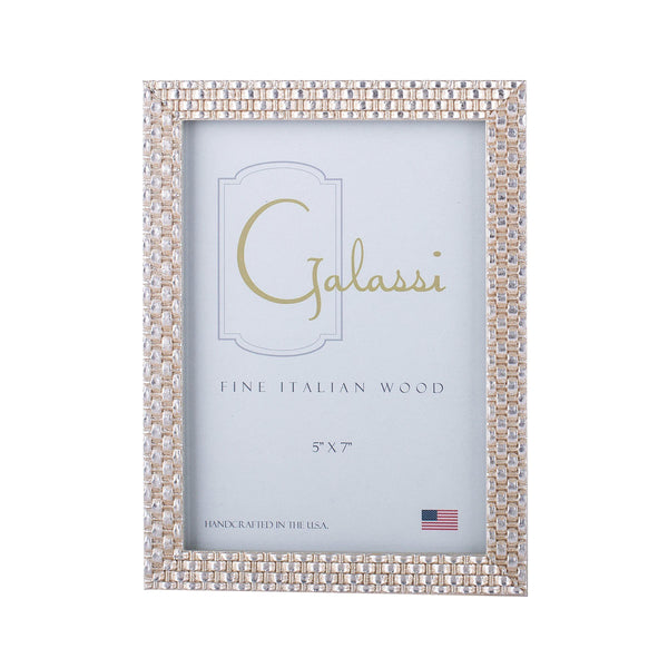 Gold and Silver Weave Picture Frame