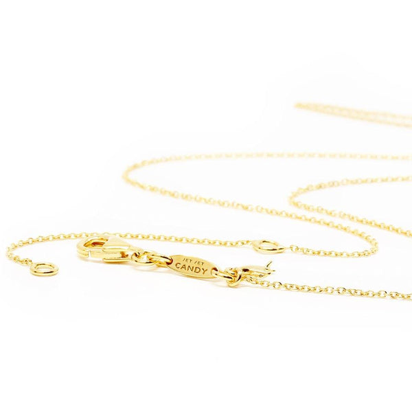 Gold Adjustable Cable Chain, 16-18""