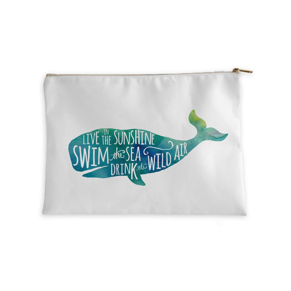 Live in the Sunshine whale accessory pouch