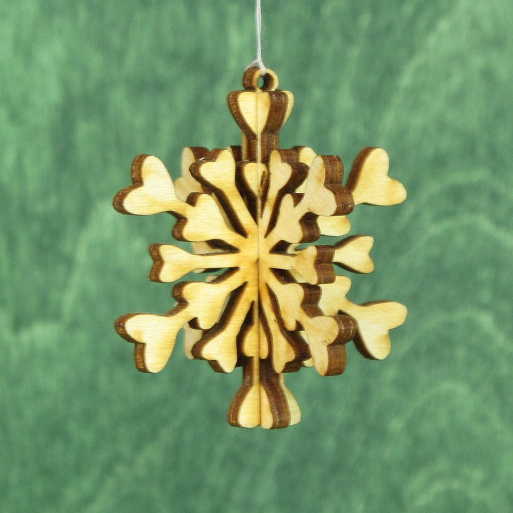 Mini Snowflake 3D Ornaments - 4 Pack Gift Set