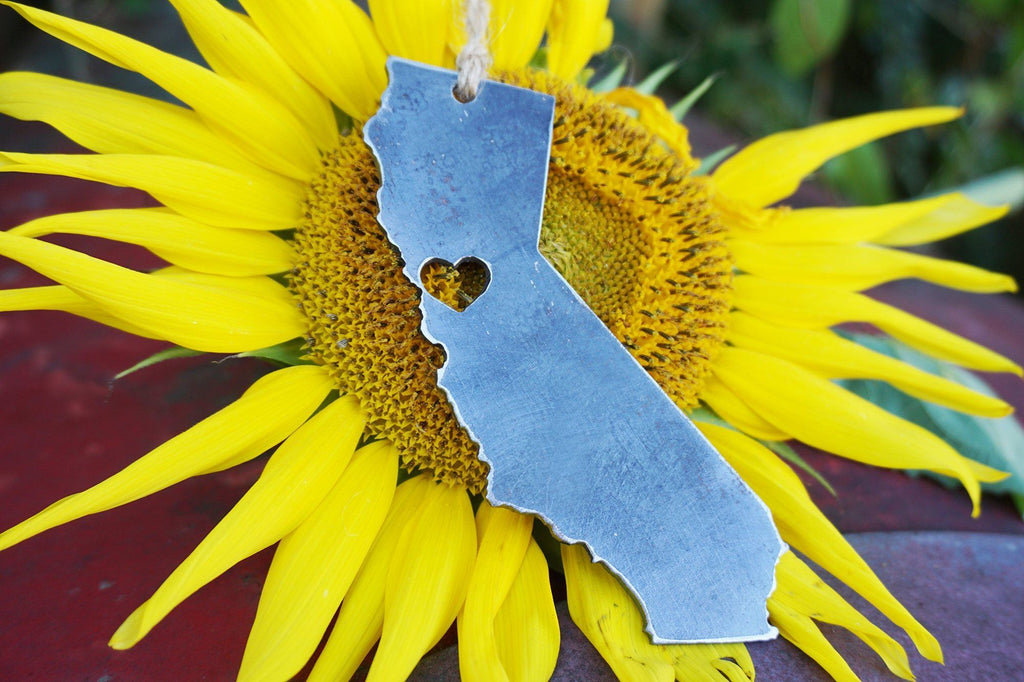 San Francisco CA California Rustic Metal Raw Steel Keepsake Ornament by BE Creations & Designs