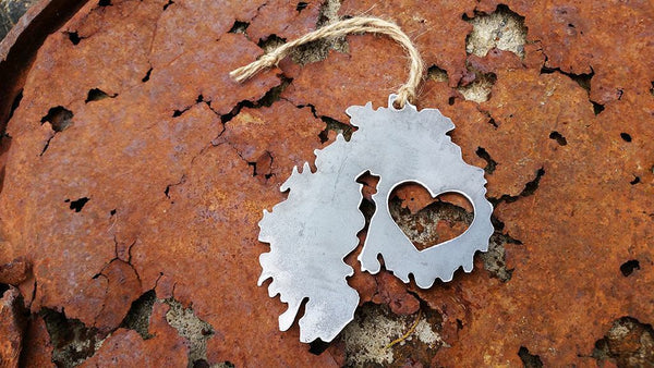 Acadia National Park Ornament Rustic Metal Raw Steel Mount Desert Island by BE Creations & Designs