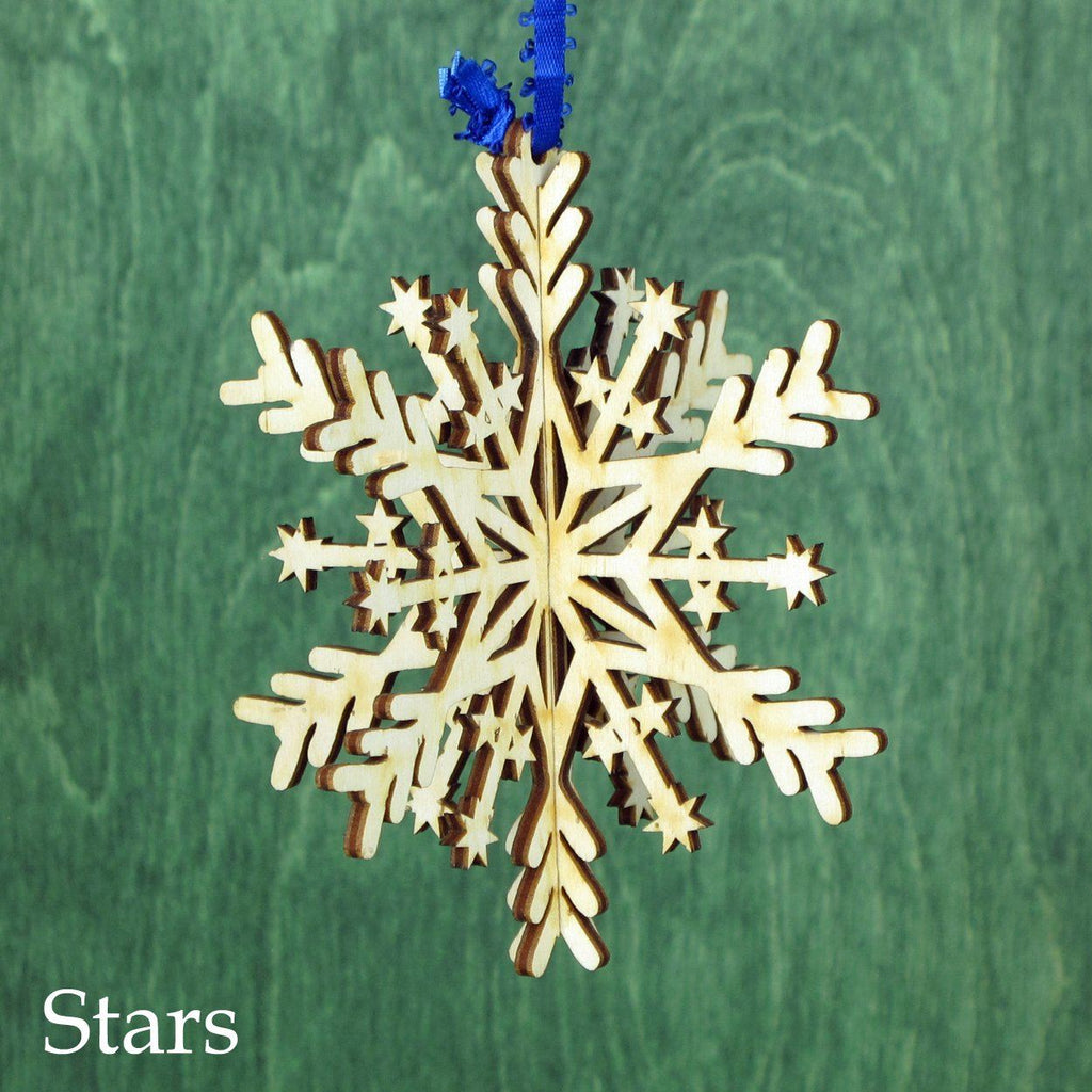 3D Snowflake Ornaments - 4""