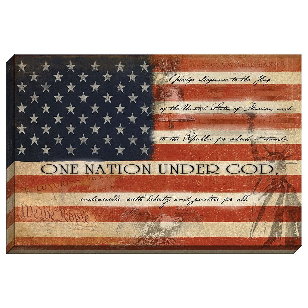 Flag - One Nation Under God Canvas