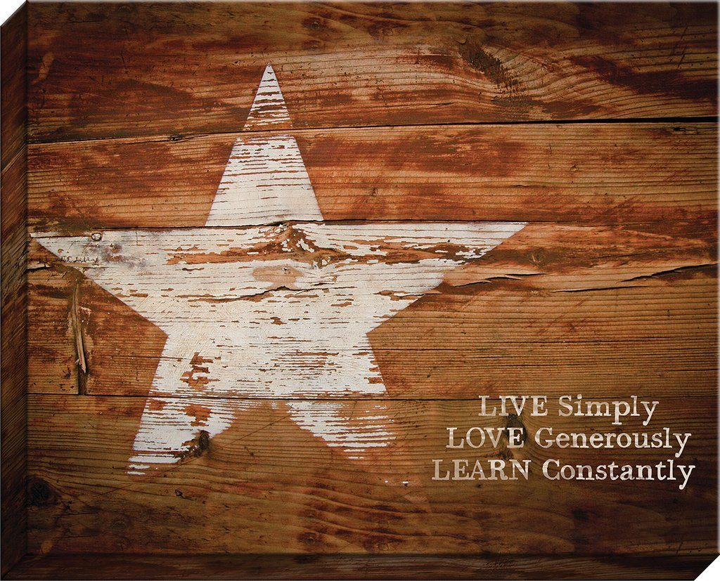 Live Simply Canvas