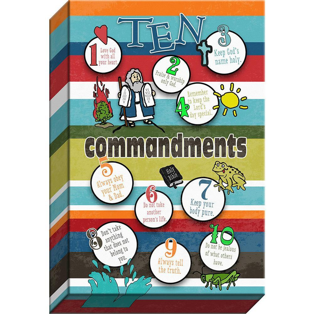 10 Commandments  Giclee Canvas Words of Life Bubbles of Wisdom