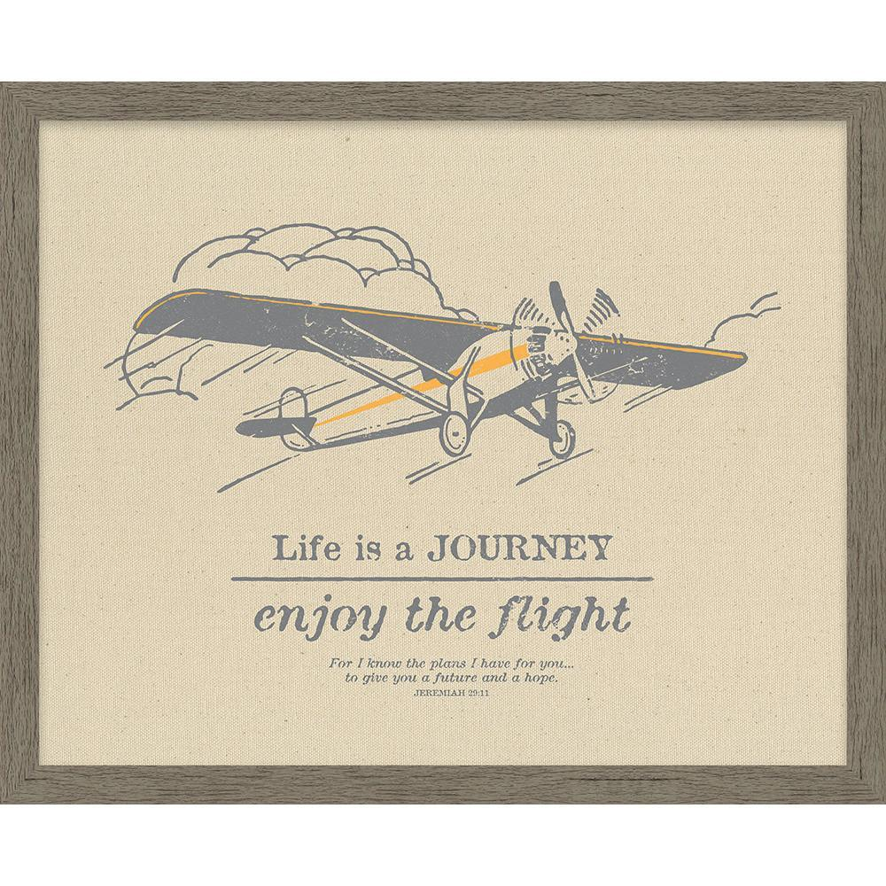 Life Is a Journey Natural Framed Canvas