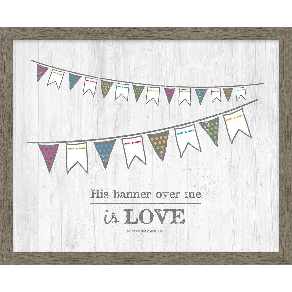 His Banner Over Me Framed Canvas