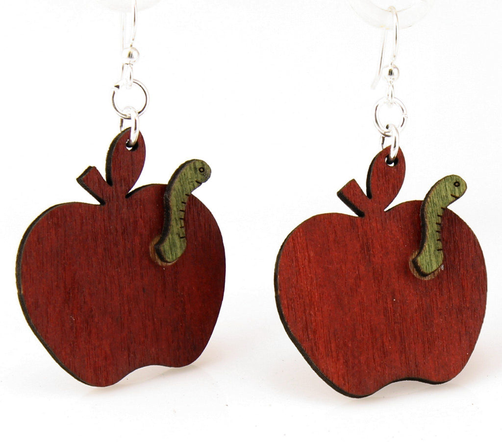 Teacher's Apple Earrings #1180
