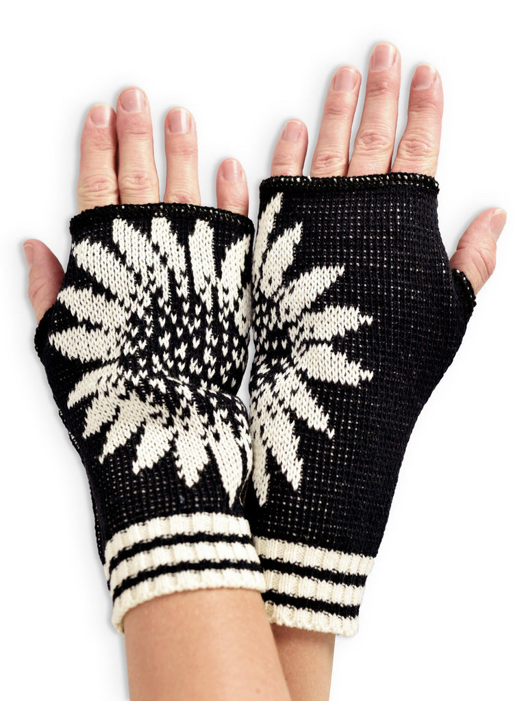 Coneflower Women's Fingerless Handwarmer Gloves