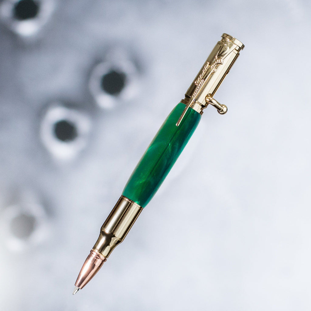 Bullet Pen - Rifle Edition - Emerald Green Acrylic