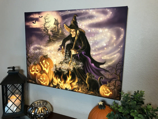 All Hallow's Eve 18x24 Backlit Print with remote control