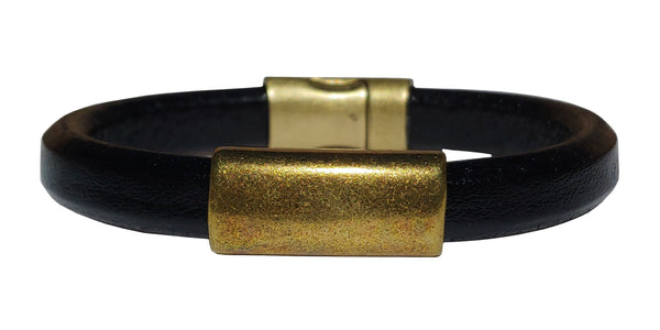Men's Brass North Leather Bracelet
