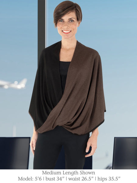 Walnut Black Medium Length Beryl Infinity Shawl for Travel from Erin Draper.jpg