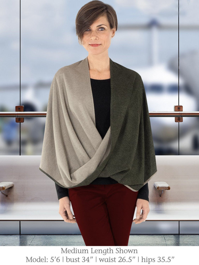 Sage Green Medium Length Beryl Infinity Shawl for Travel from Erin Draper.jpg