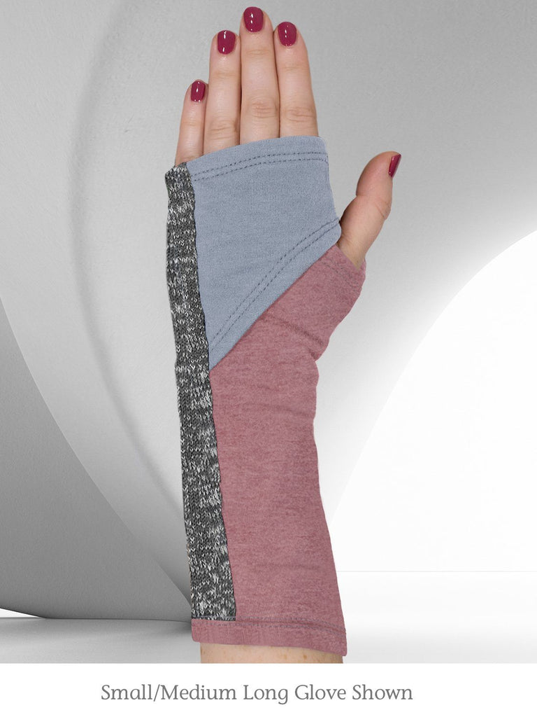 Eco-Friendly Fingerless Gloves / Handwarmers / Audrey Blue