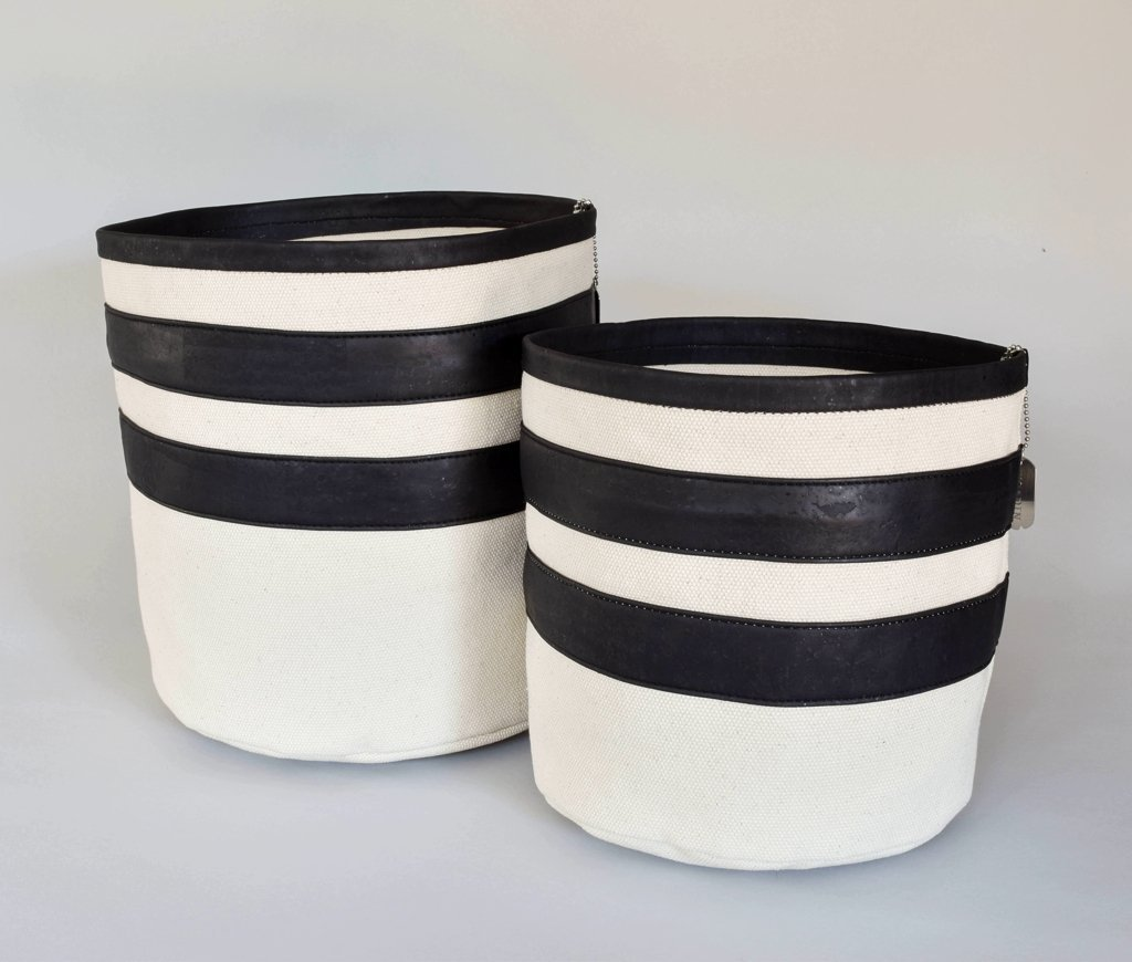 Black Cork & Canvas Multi-use Storage Bin