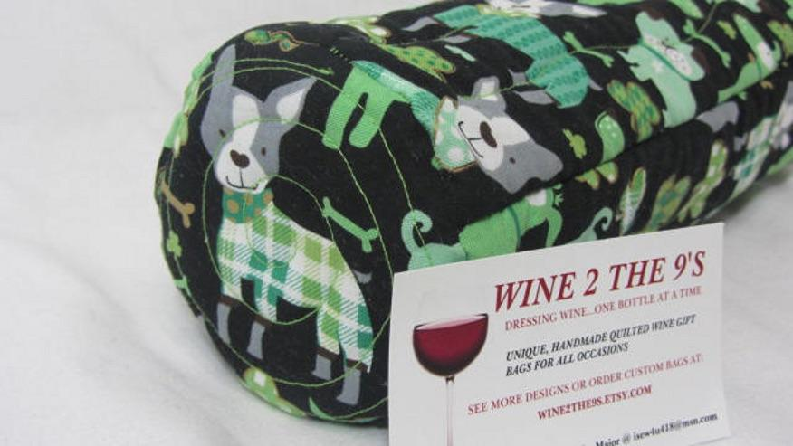 Irish Wine Bag Funny Wine Gift Bag Irish Dogs