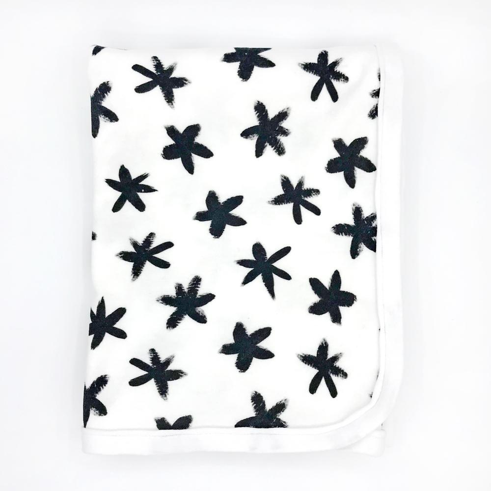 Starry Eyed Baby Receiving Blanket - Organic Cotton