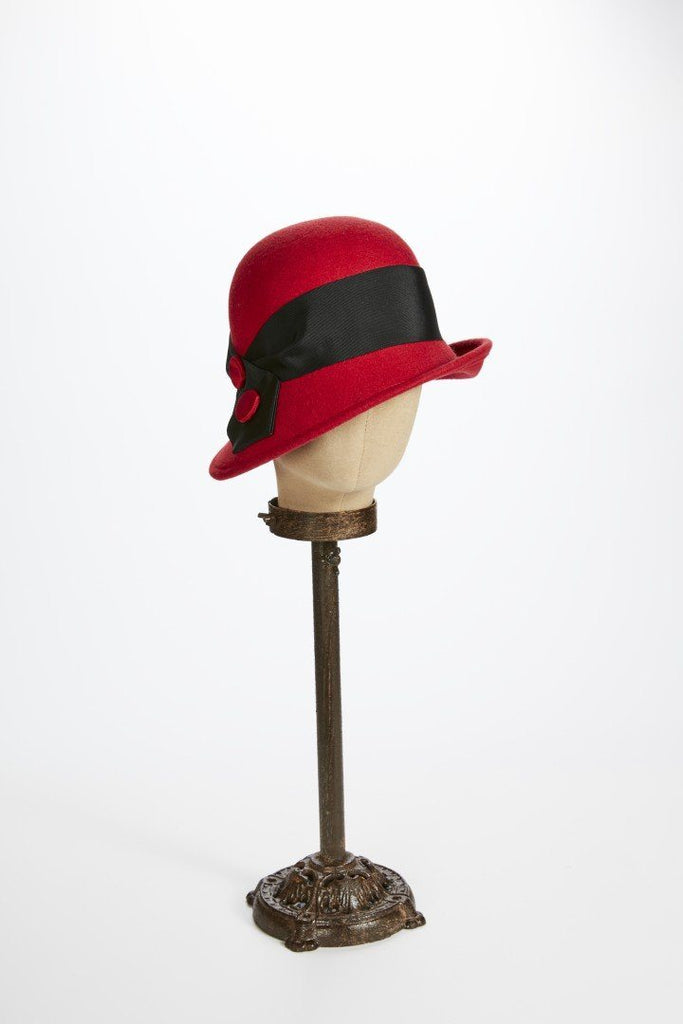Red Wool Profile Cloche