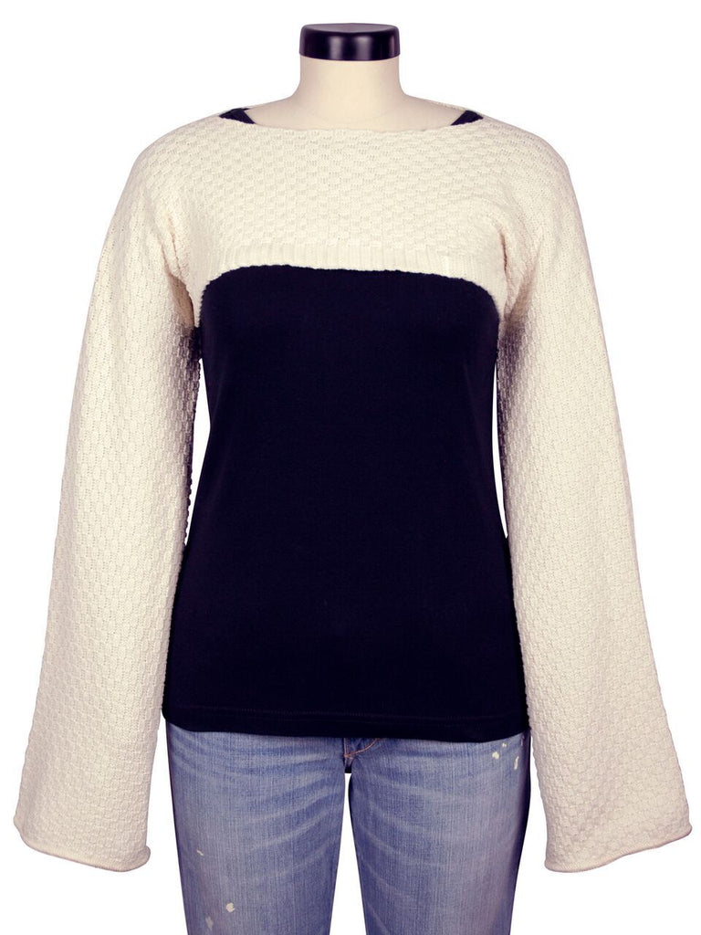 Green 3 Over Arm Shrug - Womens Recycled Cotton Knit Sweater (one size)
