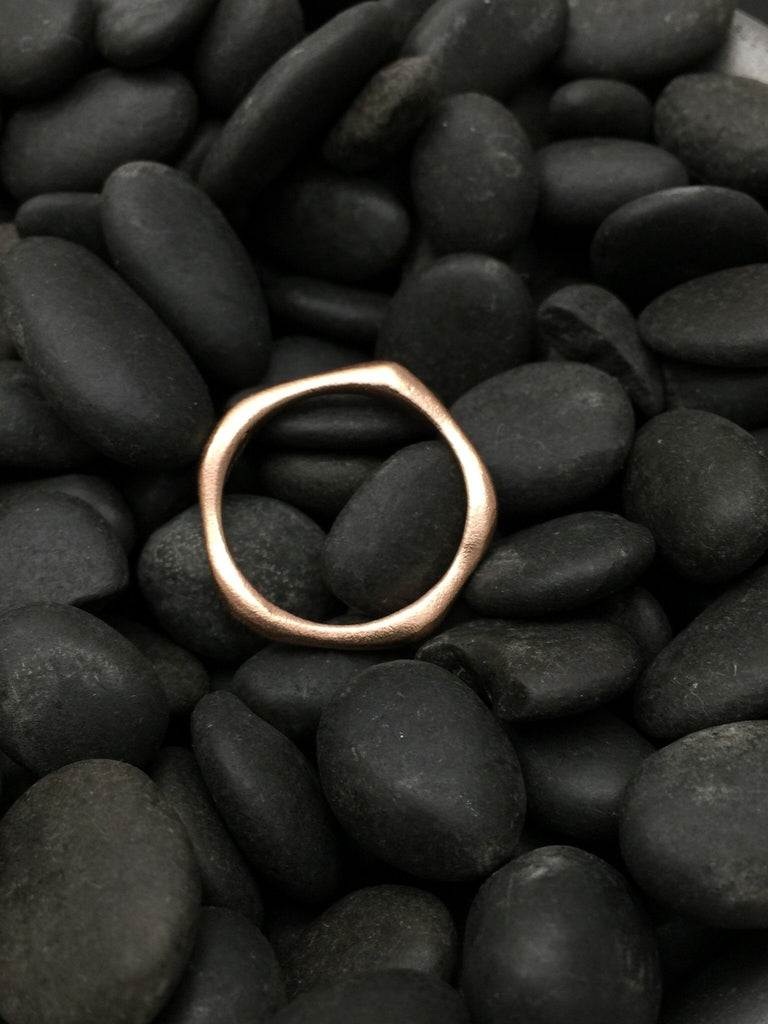 Architectural Stacking Ring III - 14k Rose Gold