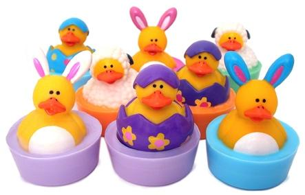 Easter Soap Rubber Duckies - Set of Six