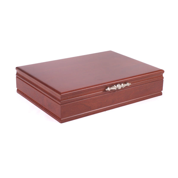 Traditions Flatware Chest w/Cherry Hardwood & Cherry Finish