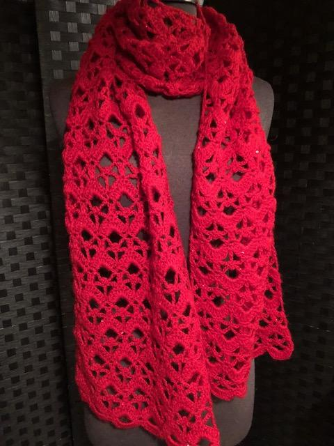 Lacy Crocheted Wrap with Sequins - More Colors!
