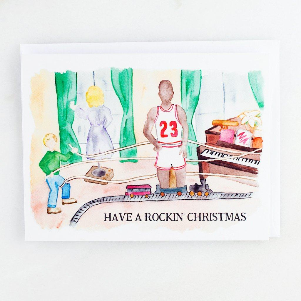 Home Alone Rockin' Christmas Party Holiday Card