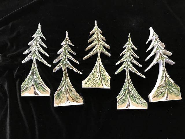 Hand Painted Trees