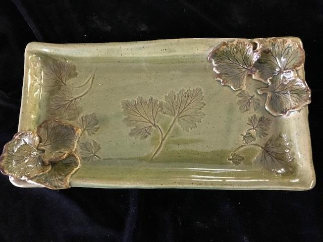 "Decorative Leaf ""hor d'oeuvre"" Serving Tray"