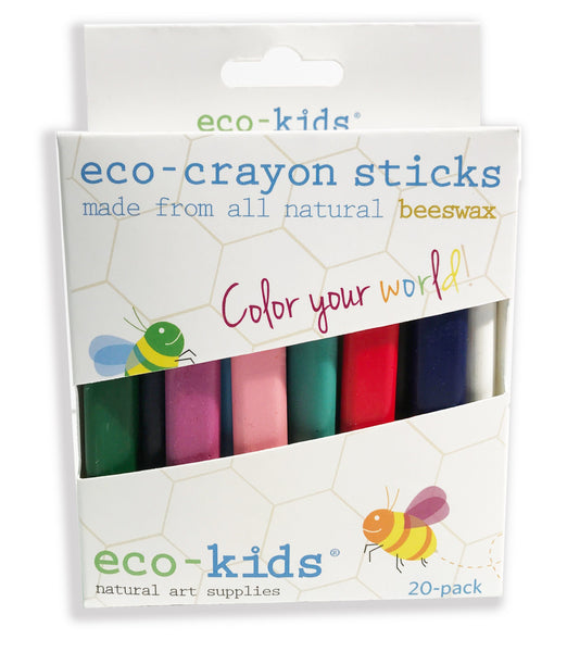 Our eco-crayon sticks - 20 pack