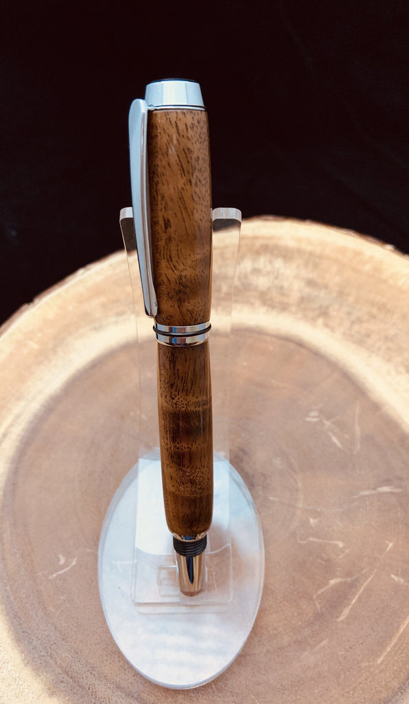 Walnut burl roller ball pen