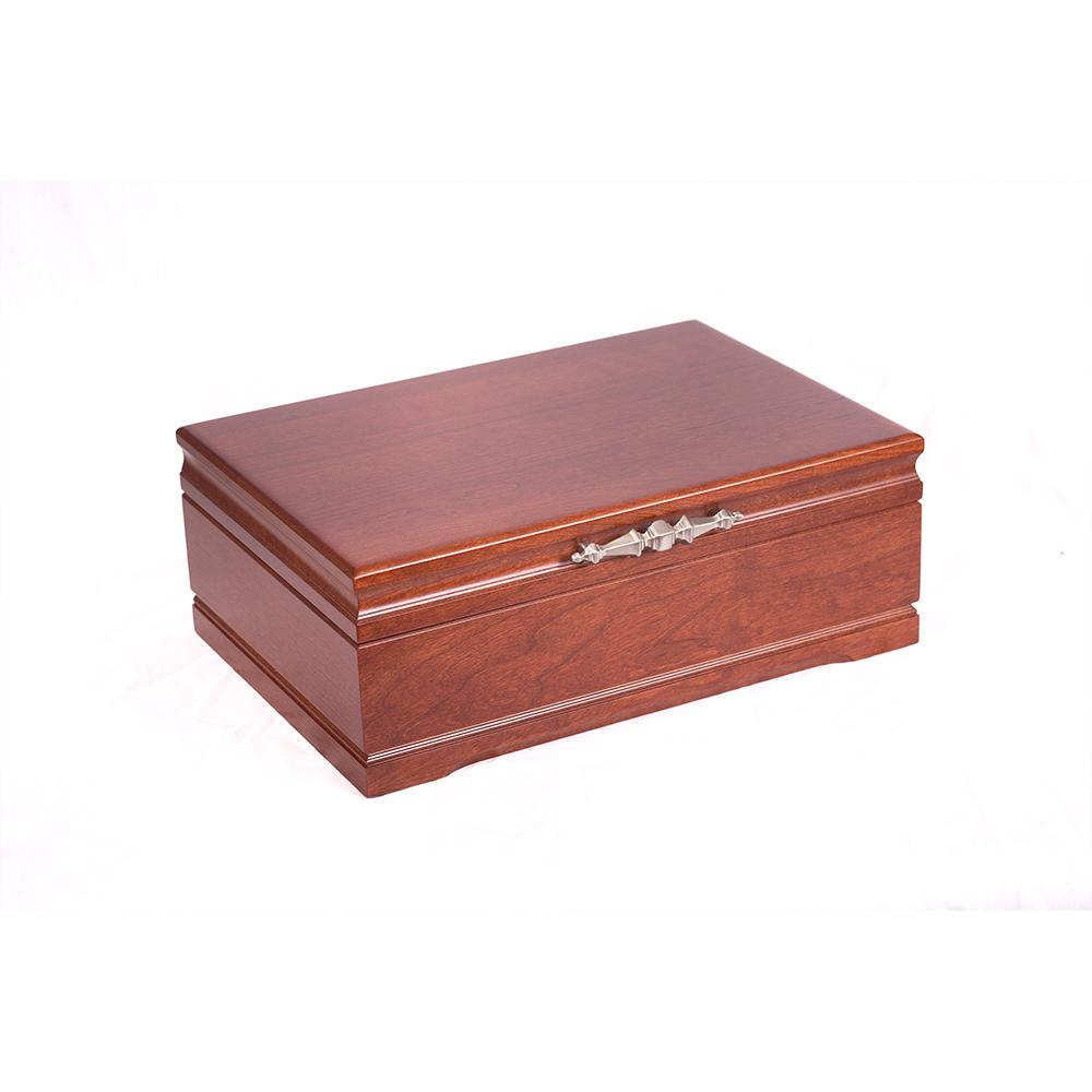 Sophistication Jewel Chest, Solid American Cherry Hardwood w/Heritage Cherry Finish. Made in USA by AMISH Craftsmen!