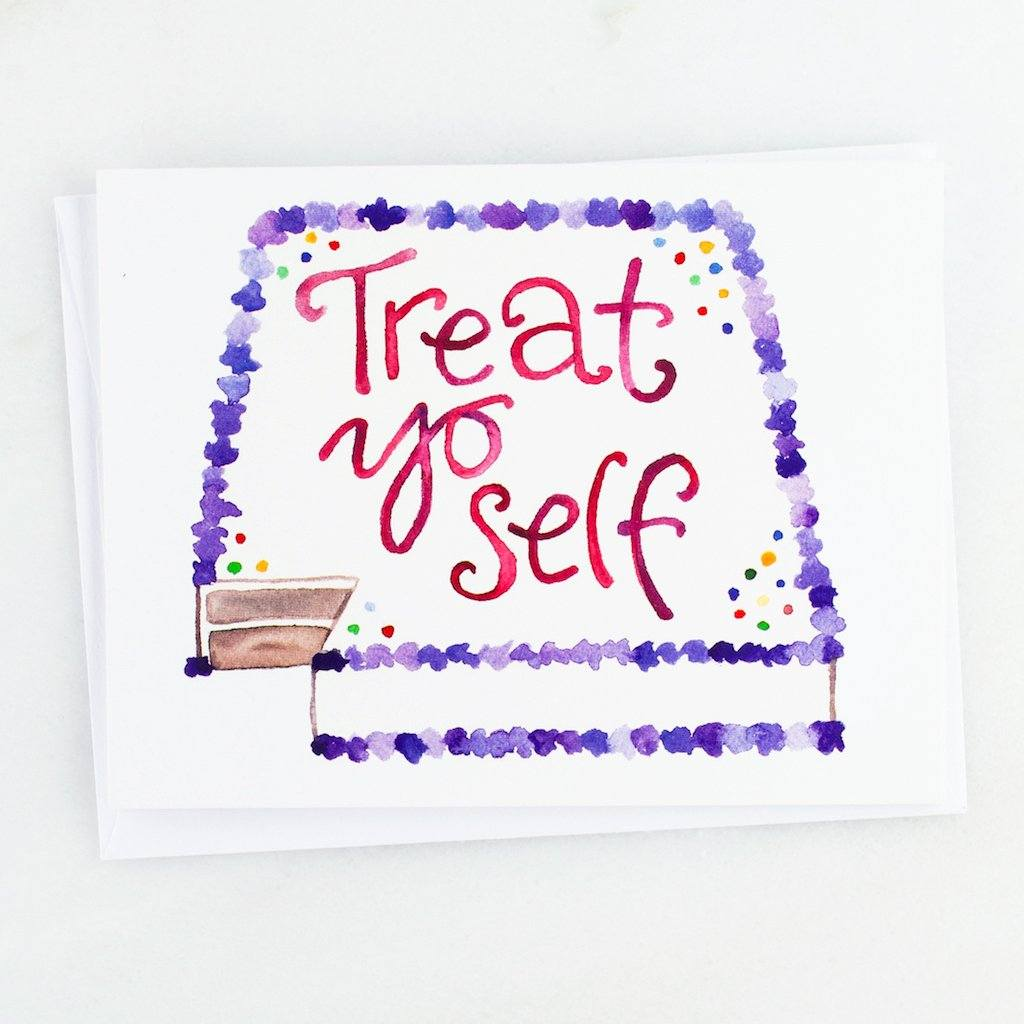 Parks and Recreation Treat Yo Self Card