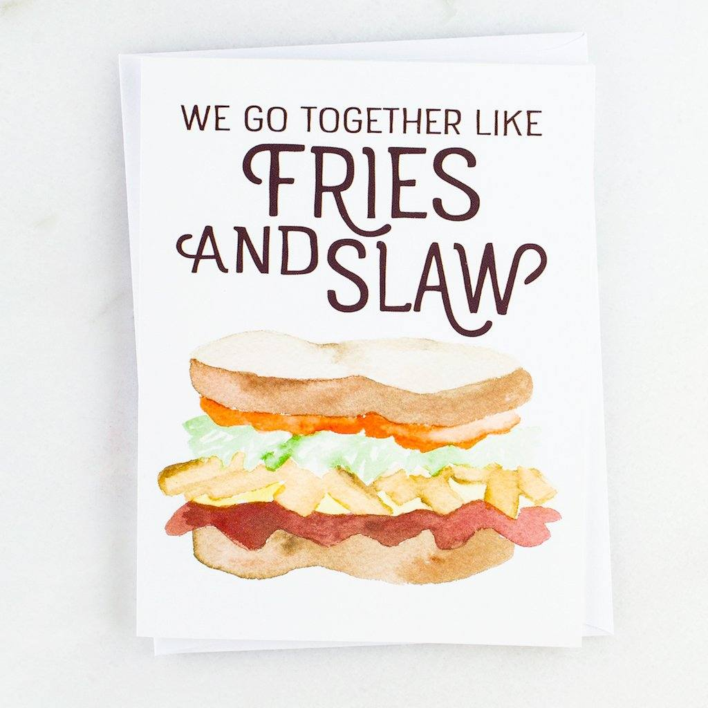 Fries and Slaw Pittsburgh Sandwich Greeting Card