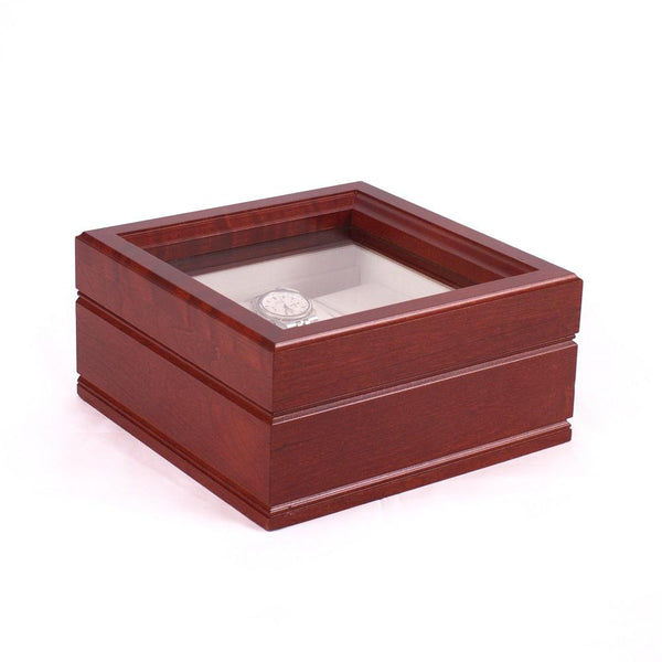 "The Lieutenant; SIX Watch, Glass Top Storage Chest featuring 6  ""watch pillows. ""Made in USA"