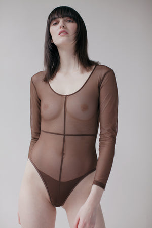ROY BODYSUIT - BROWN