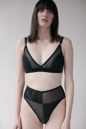 RIDGE BRA - BLACK