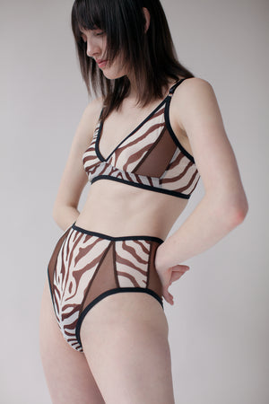 VIRGINIA PANTIES - ZEBRA