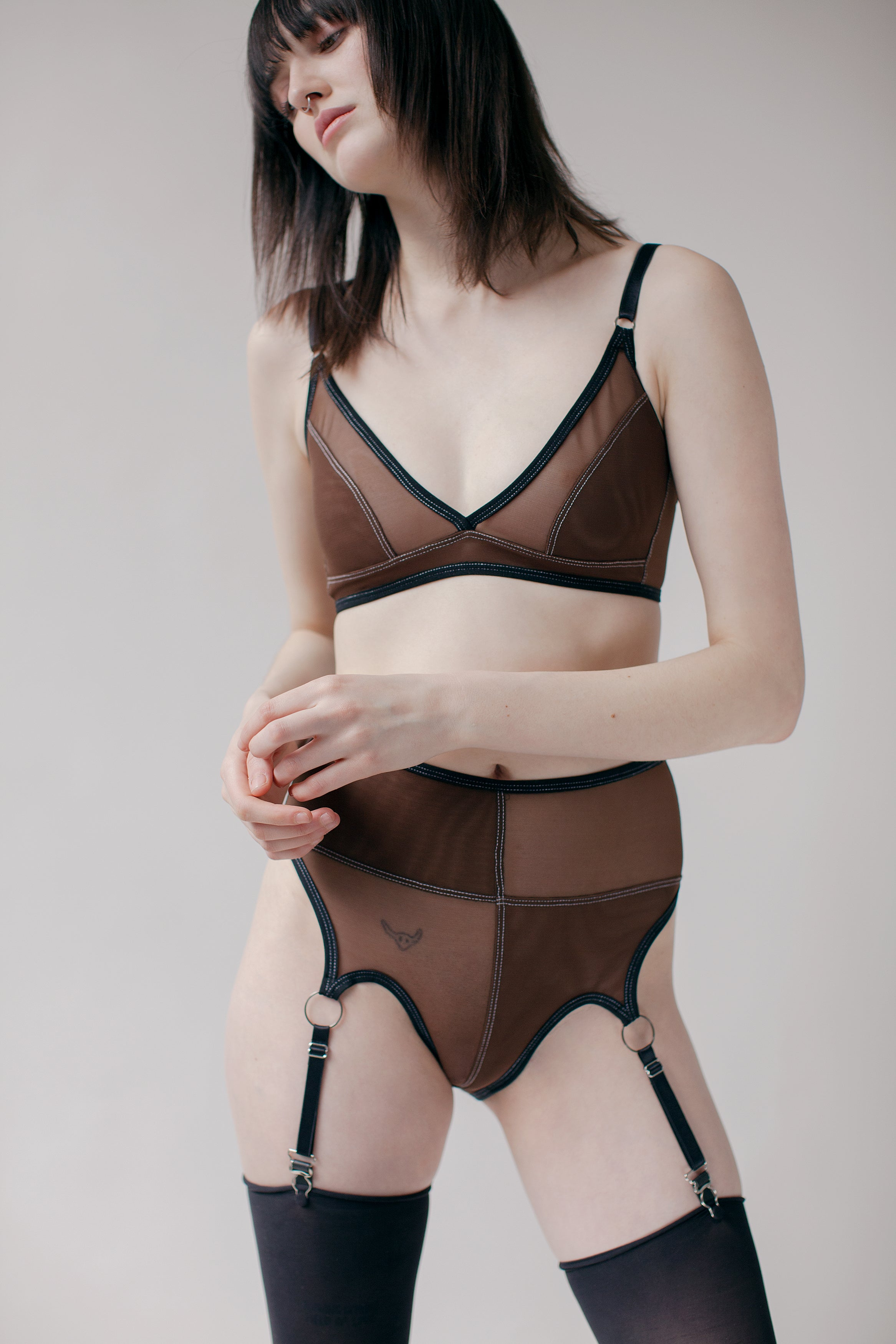RIDGE BRA - BROWN