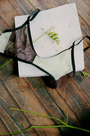 WALKER BRA - BROWN AND PALE GREEN