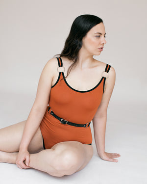 BOE BODYSUIT - BURNT ORANGE