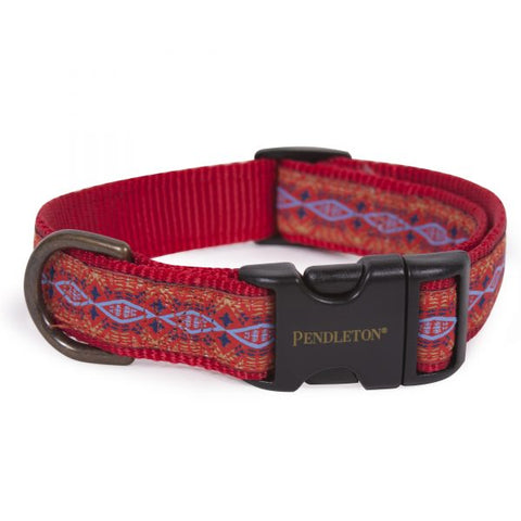 Pendleton® Pet Collar Diamond River Scarlet