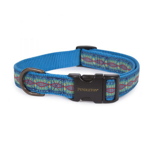 Pendleton® Pet Collar Diamond River Turquoise